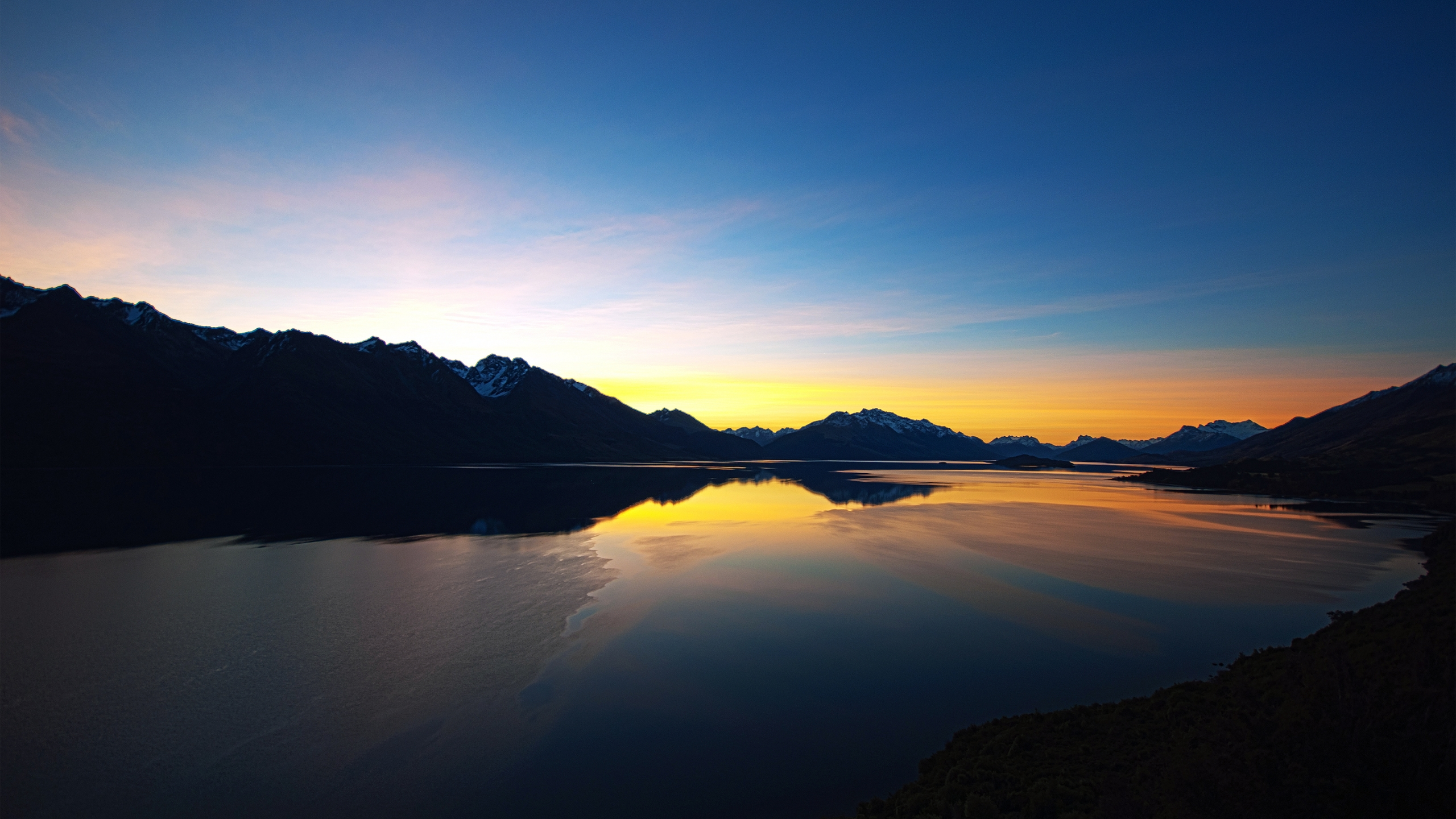Lake Sunset Hd 2560x1440 Paisajes Rios Y Lagos