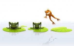 Fondo de pantalla ranas animadas