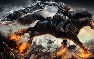Fondo de pantalla caballo con patas de fuego