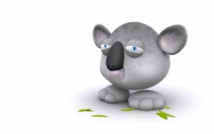 Fondo de pantalla oso koala