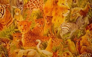 Fondo de pantalla animales de la selva