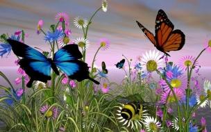 Fondo de pantalla mariposas volando