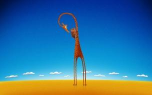 Fondo de pantalla jirafa infantil