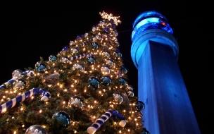 Fondos de pantalla Arbol de Navidad en la Torre Entel Chile