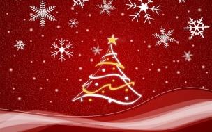 Fondos de Pantalla Dibujo de Arbol de Navidad