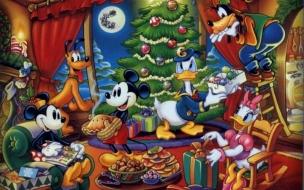 Fondos de Pantalla Arbol de Navidad Mickey Mouse y sus Amigos
