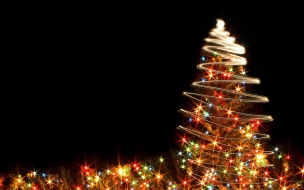 Christmas wallpapers free crazy chrsitmas tree with lights