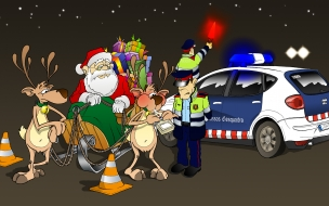 Fondos hd policia para a papanoel