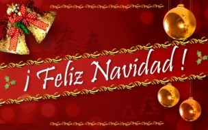 Fondo de pantalla rojo con Feliz Navidad