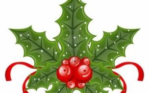 Fondo de pantalla laurel navideño