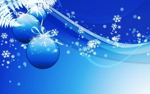 Fondos hd bolas azules con nieve