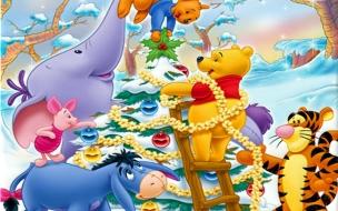 Fondos hd caricaturas de navidad winnie pooh