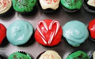 Fondos hd cupcake navideños