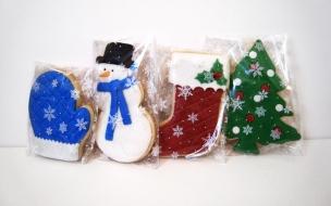 Fondos hd galletas de muñeco de nieve