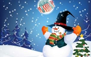 Fondos hd muñeco de nieve feliz