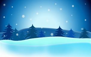 Fondos hd la nieve cayendo en paisaje
