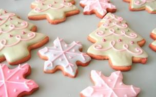 Fondos hd galletas en forma de arbolitos navideños