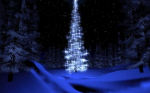 Fondo de pantalla hermoso arbol navideño