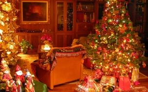 Fondo de pantalla sala navideña