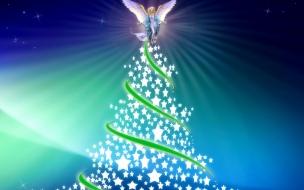 Fondo de pantalla angel de navidad