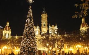 Ayuntamiento en Navidad  Valencia