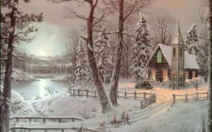 Fondo de pantalla paisaje con nieve