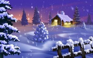 Fondo de pantalla arbolitos con nieve