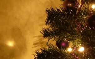 Fondo de pantalla parte de un arbol de navidad