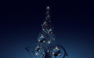 Fondo de pantalla con bolas navideñas