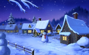 Fondos hd casas con nieve