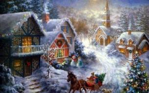Fondos hd casitas llenas de nieve