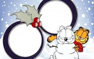 Fondos hd Garfield se hizo el mismo con nieve