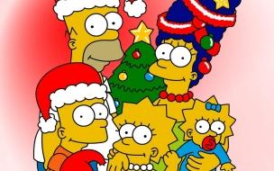 Fondos hd familia Simpson en Navidad