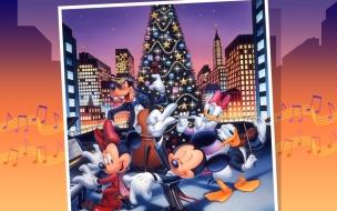 Fondos hd Micky Mouse y sus amigos en navidad