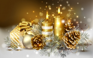 Adornos de navidad ornamentales con velas