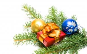 Adornos y regalos con ramas