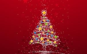 Arbol de navidad lleno de estrellas