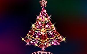 Arbol navidad hecho de estrellas