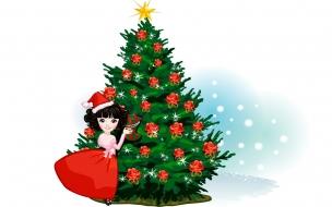 Caricatura de arbol navideno