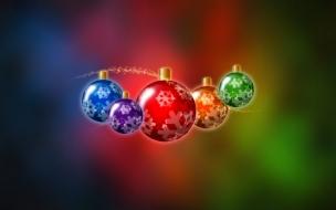 Bolas de navidad multicolor