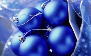 Bolas navideñas azules