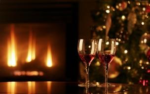 Cena romantica en navidad