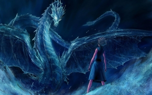 Bleach Blue Dragon