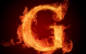 Letter G In Fire Hd