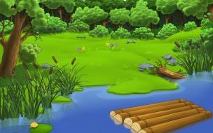 Bosque en dibujos
