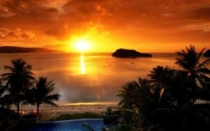 Caida del sol espectacular