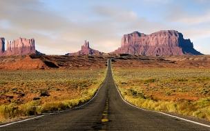 Carretera en desierto