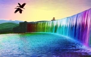 Cascada multicolor