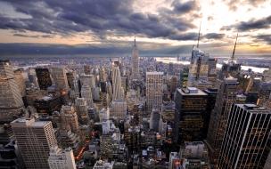 Ciudad llena de edificios