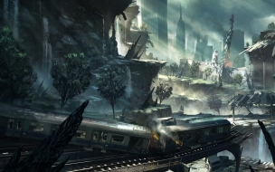 Crysis 2 New York City Artwork wallpaper